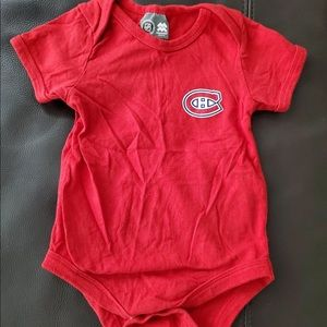 Montreal Canadians 12 Month Onesie
